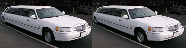 white pink limo hire